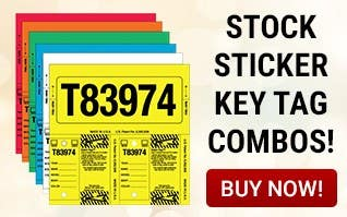 Stock Sticker Key Tag Combos!