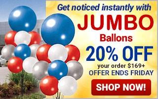 Jumbo Balloons - 20% off $169+