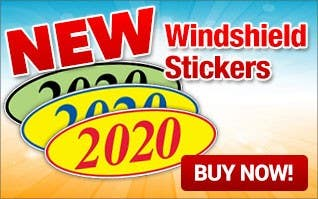 NEW Windshield Stickers