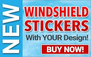 NEW - Windshield Stickers with YOUR Design!