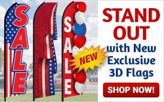 Stand Out with New Exclusive 3D Flags