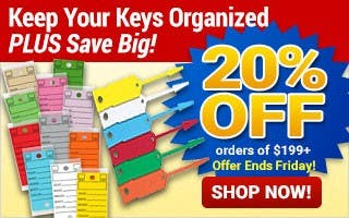 Keep Your Keys Organized - 20% off $199+
