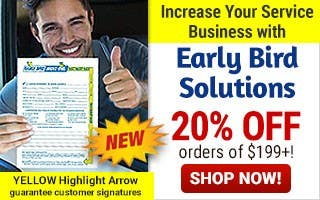 Early Bird Solutions 20% off $199 or more