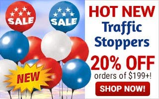 Printed Vinyl Balloons 20% off $199 or more