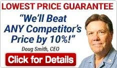 We'll Beat ANY Competitor's Price by 10%!