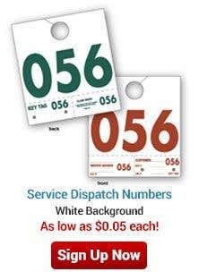 Service Dispatch Numbers