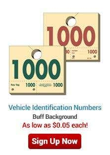 Vehicle Identification Numbers